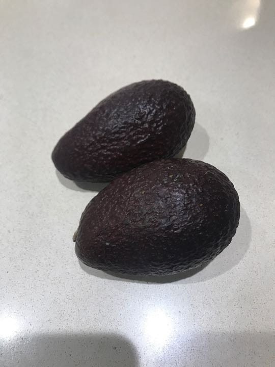2 ready to eat avocados