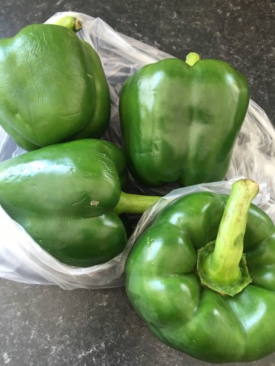 Bag of 4 green peppers