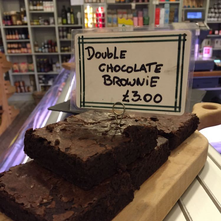 Homemade Double Chocolate Brownie