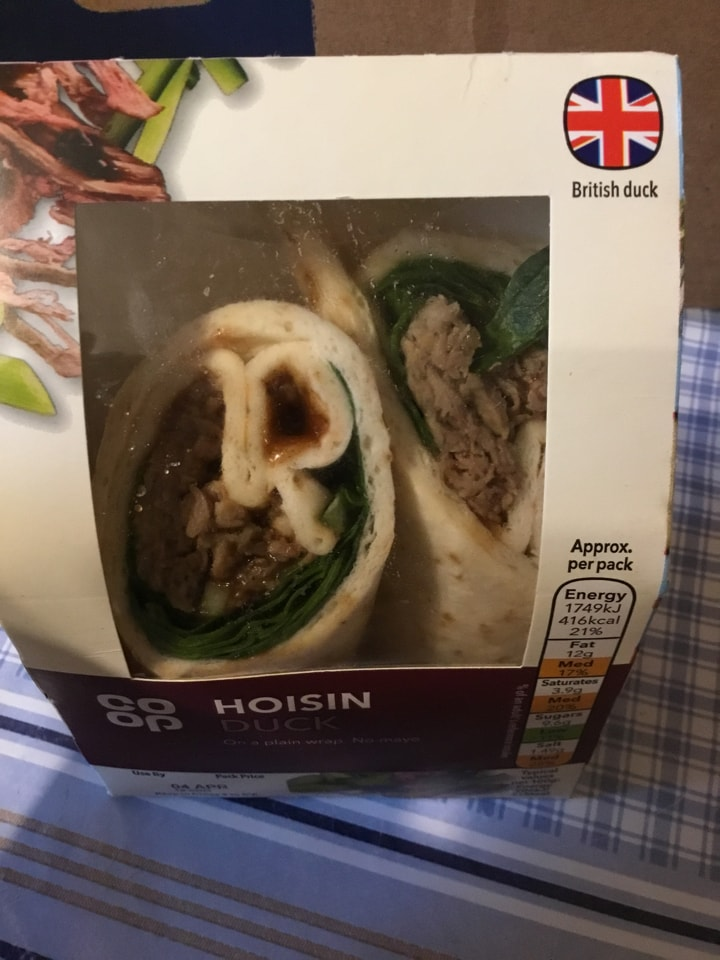Hoisin duck wrap