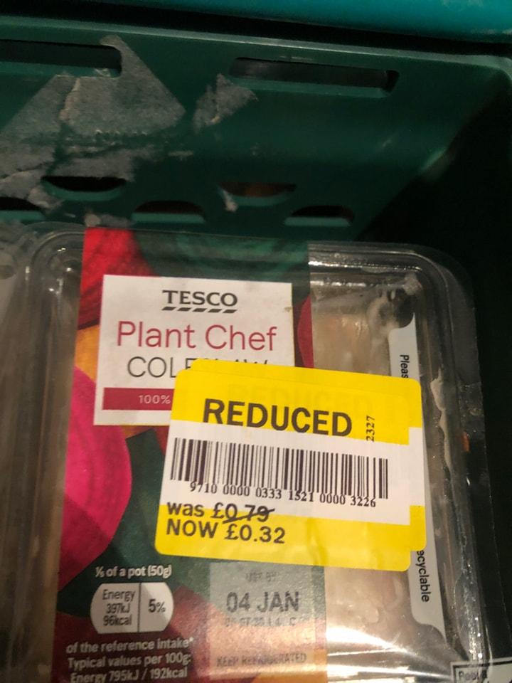 Tesco-plant chef coleslaw
