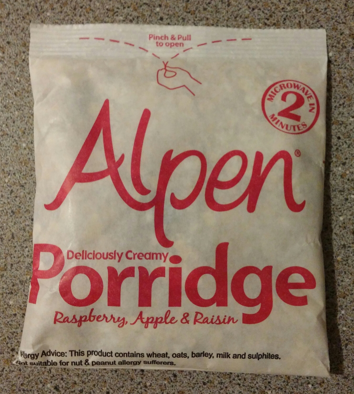 Alpen Porridge: Raspberry, Apple & Raisin (6 Sachets)
