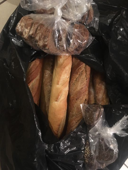 Mixed baguettes and a small amount of speciality bread