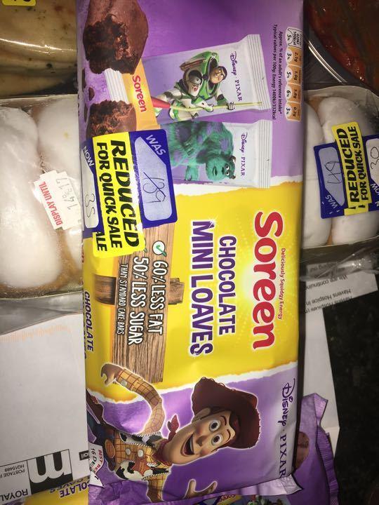 Soreen chocolate loaves