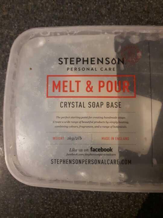 Half a box of crystal soap base
