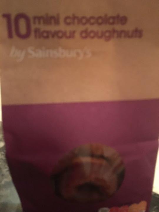 10 mini chocolate doughnut