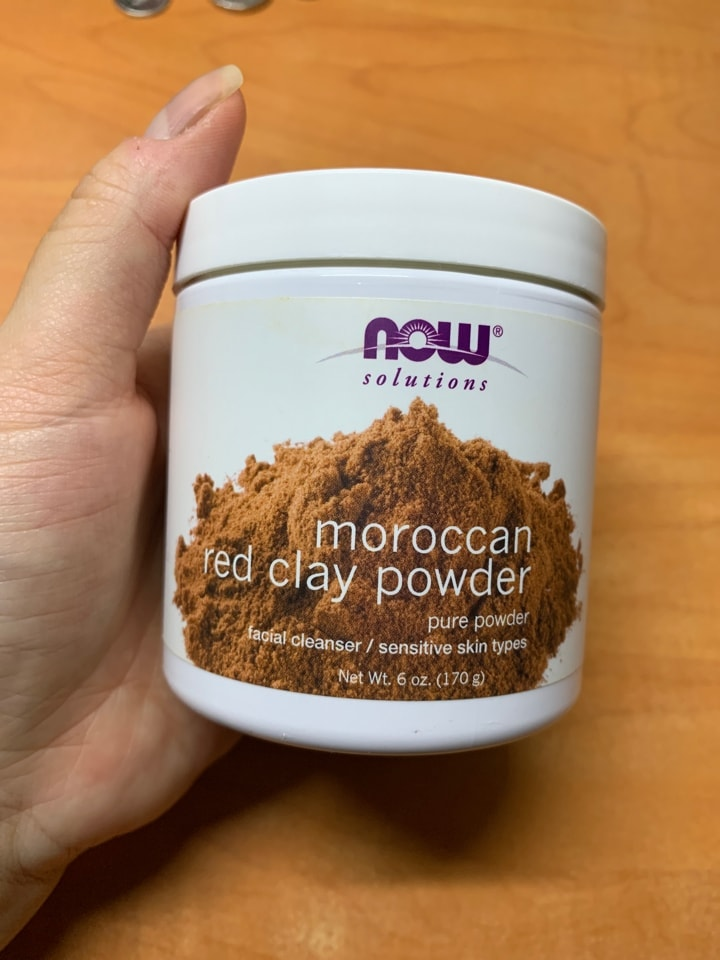NOW Moroccan red clay powder face mask
