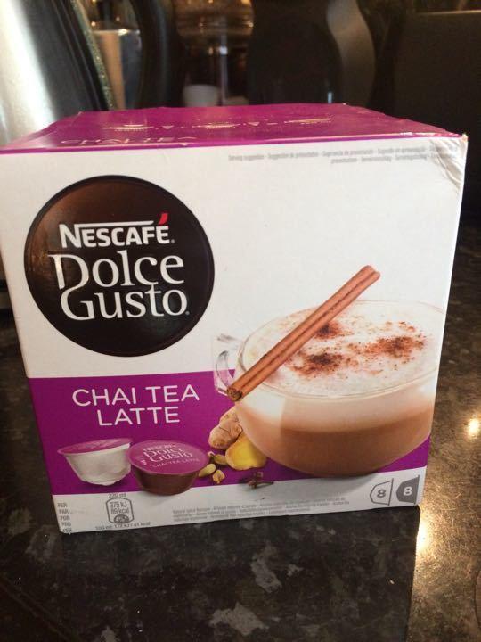 Dolce gusto pods - chai tea latte