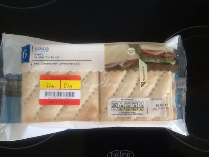 Tesco White sandwich thins
