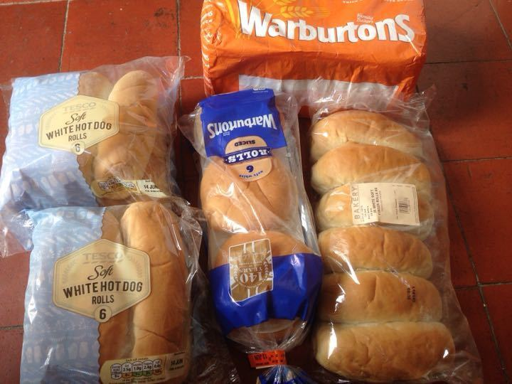 Bread - various white rolls and white loaf