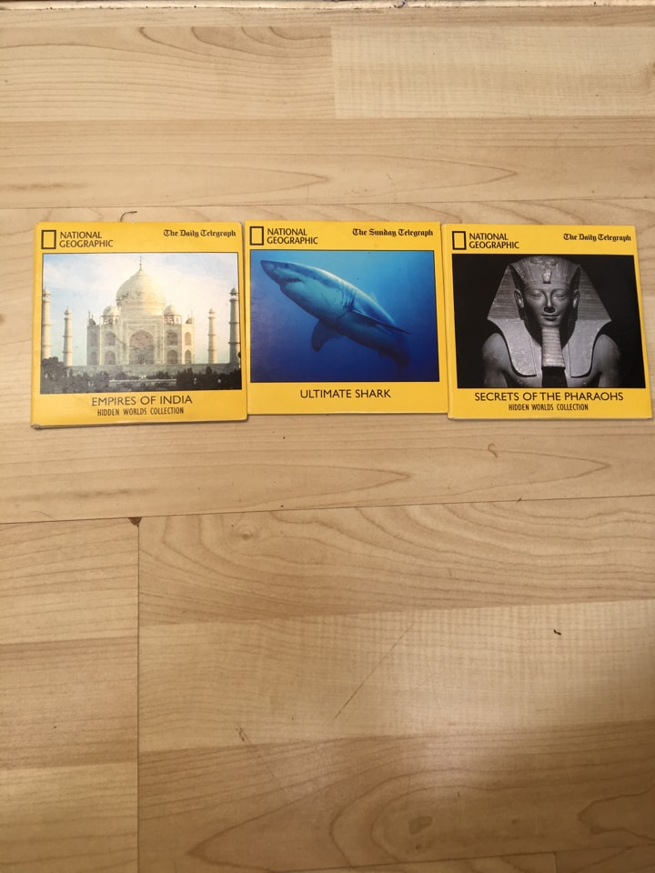 National Geographic DVD's x3