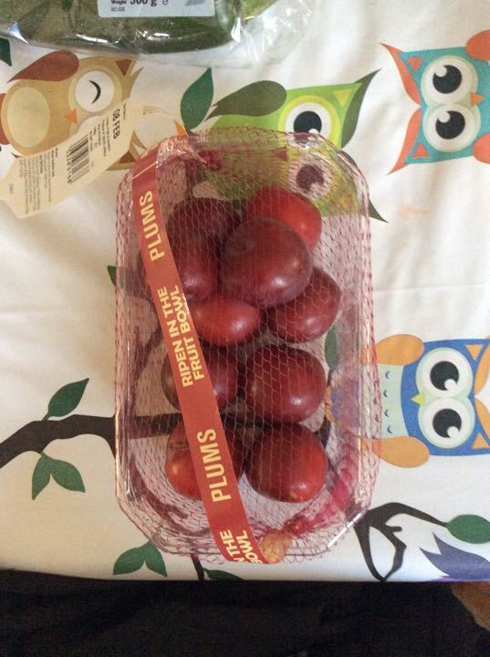Home ripen plums