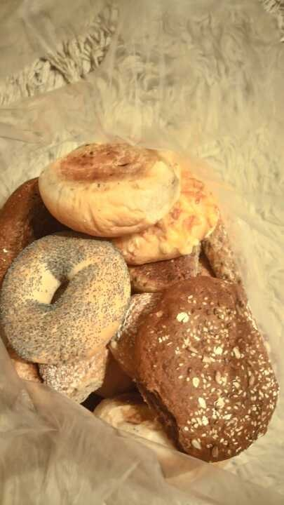 Mixed bread rolls and baguettes from Pesso
