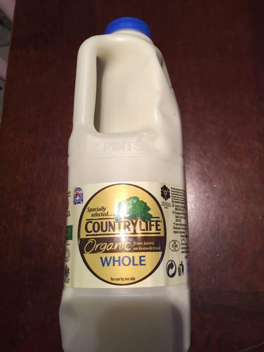 Organic whole milk 2 pints by tonight