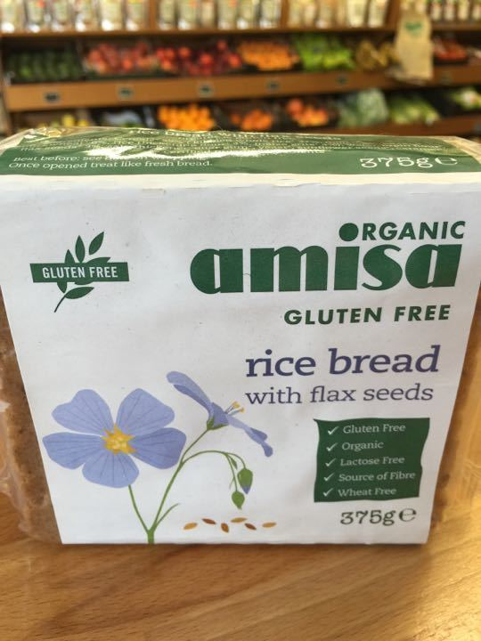 Organic Amisa Rice Bread with Flax Seeds