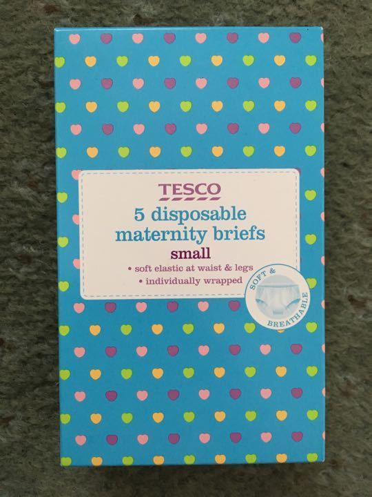 Disposable maternity briefs