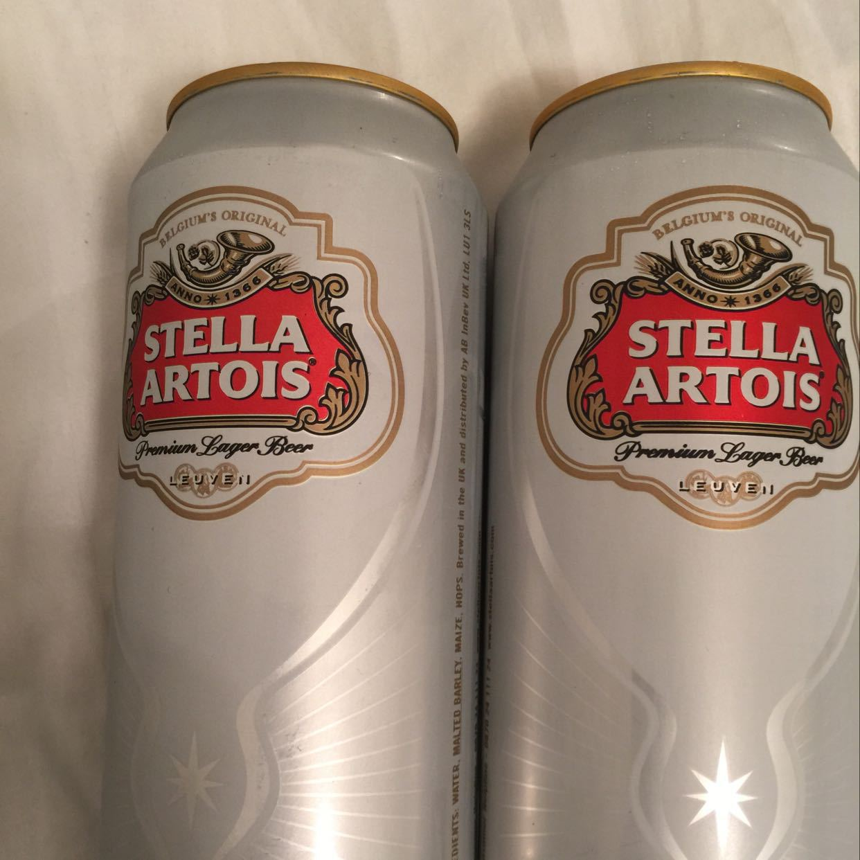 2 cans Stella 440ml