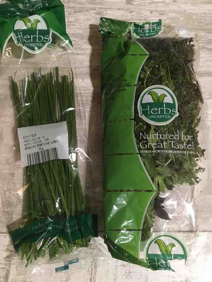 Herbs - chives and oregano