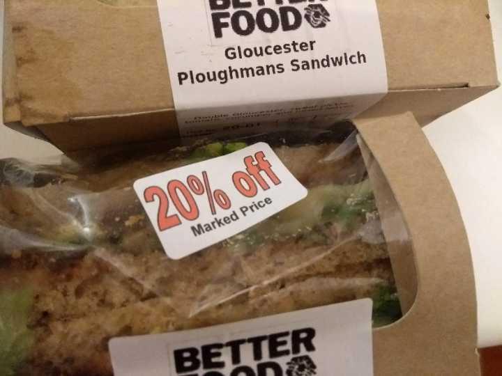 Organic Gloucester ploughman's sandwich x2