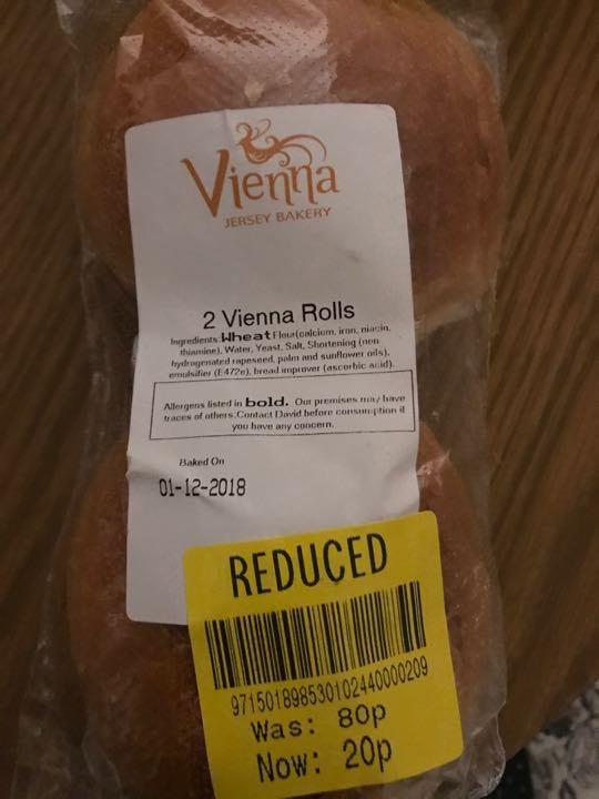 Vienna Rolls x2 packs