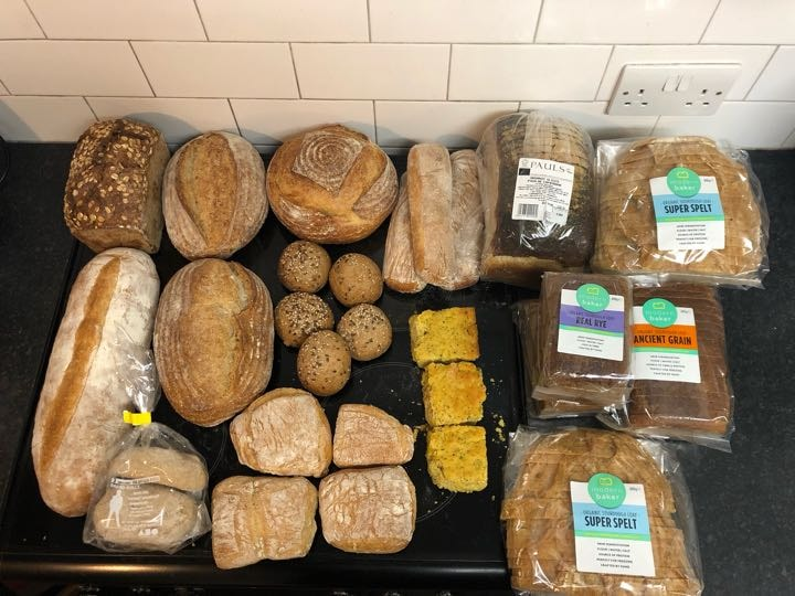 Various Bread courtesy of Planet Organic - contain all allergens