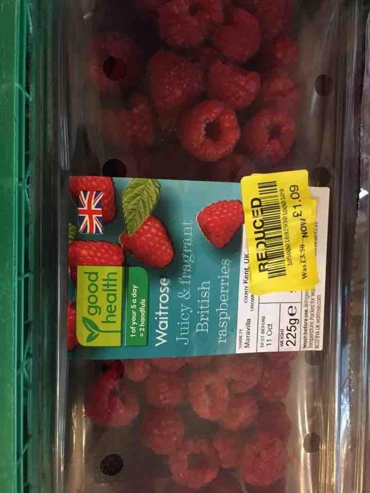 225g raspberries