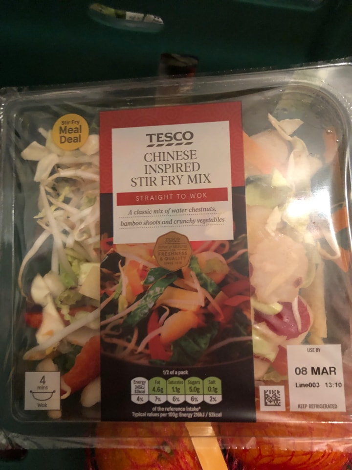 Tesco- Chinese inspired stir fry