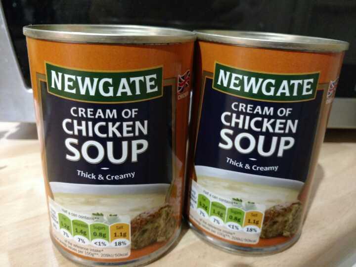 Two tins Newgate chicken soup