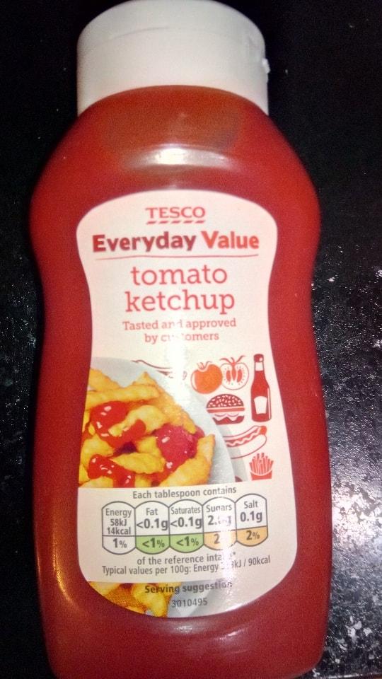 Tesco tomato ketchup Nov 2019