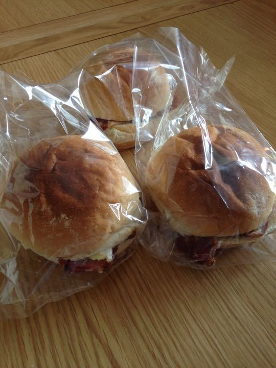 Bacon, Bree & cranberry rolls