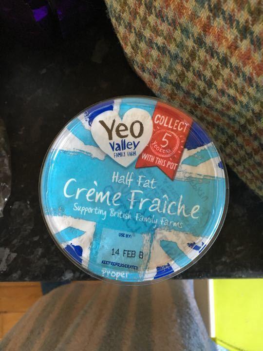 Half fat crème fraiche