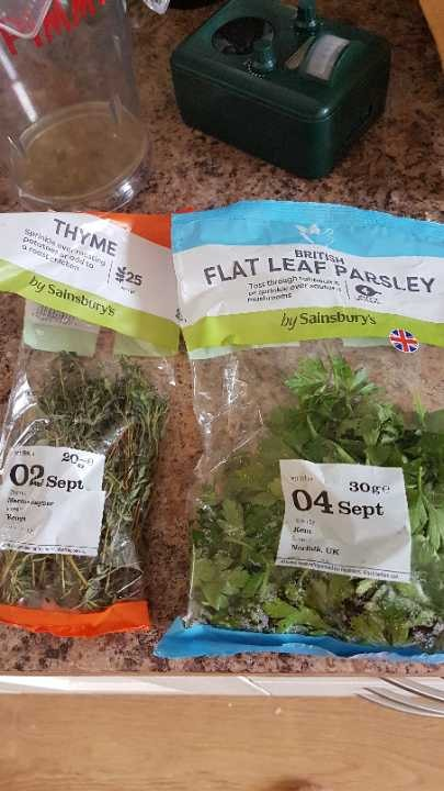 Fresh thyme and parsley