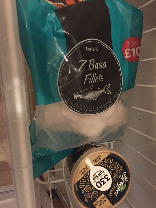 Basa fillets (frozen - in date and unopened)