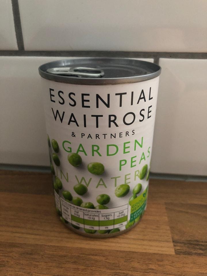 Tinned garden peas