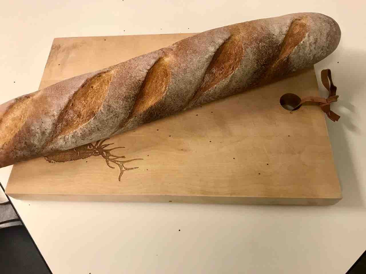 Fresh baguette from Pesso (28/03)