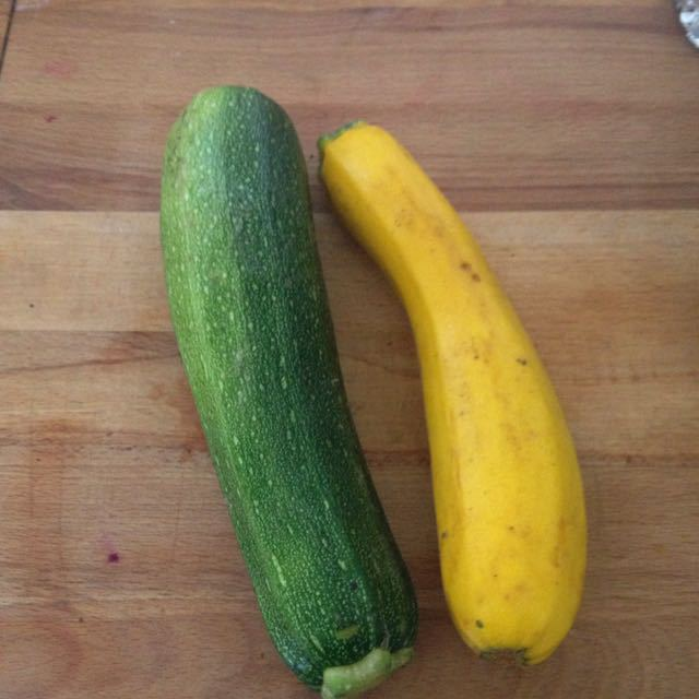 Good quality courgette from veg box