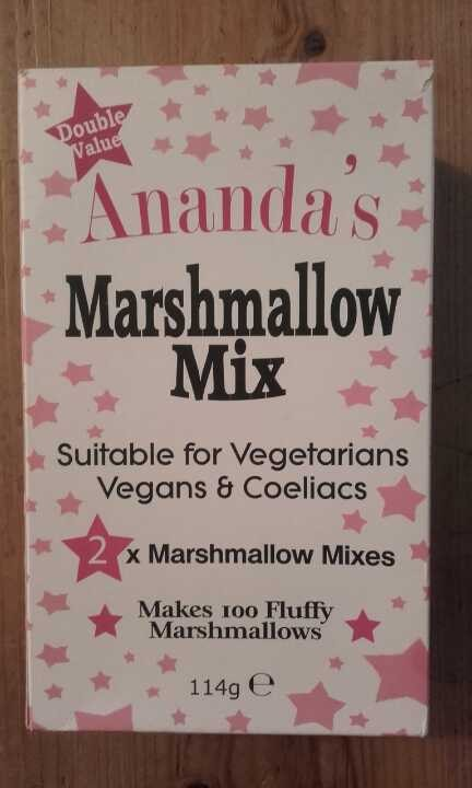 Marshmallow mix suitable for vegans and coelics