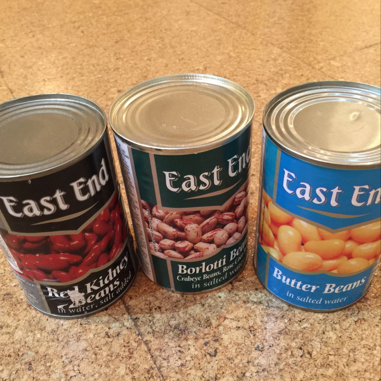 3 tins of beans