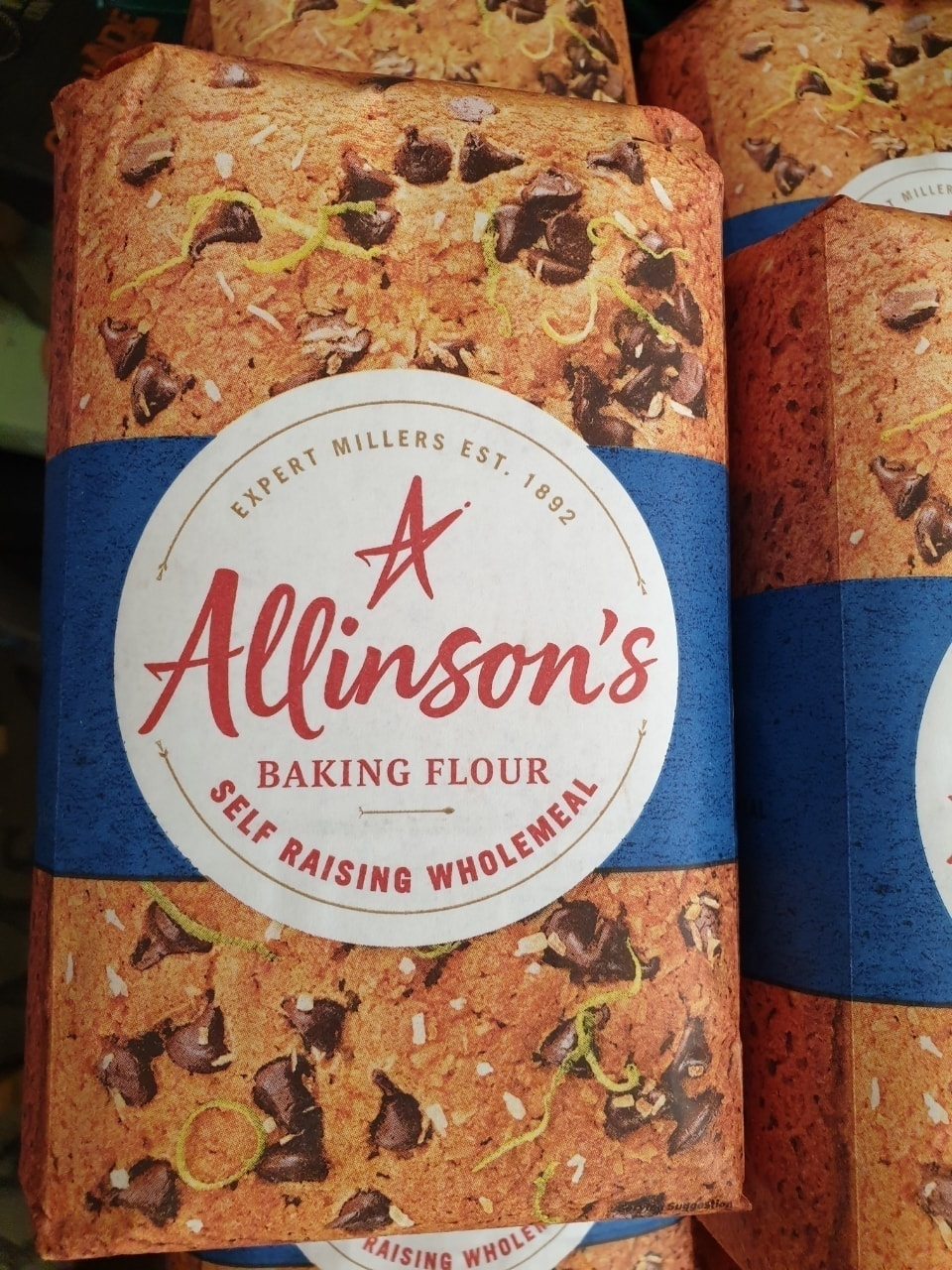Wholemeal baking powder