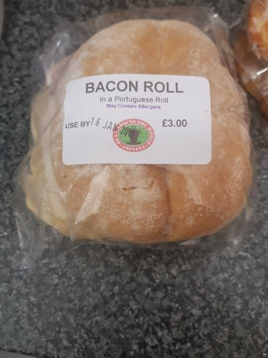To be collected tonight     bacon roll
