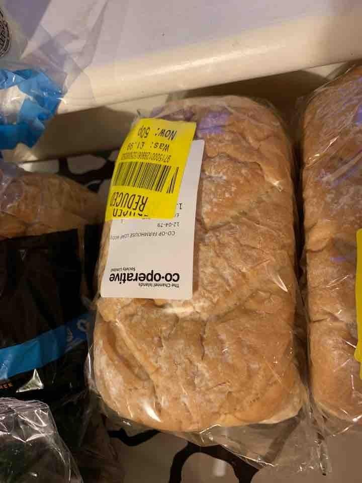 White farmhouse bread