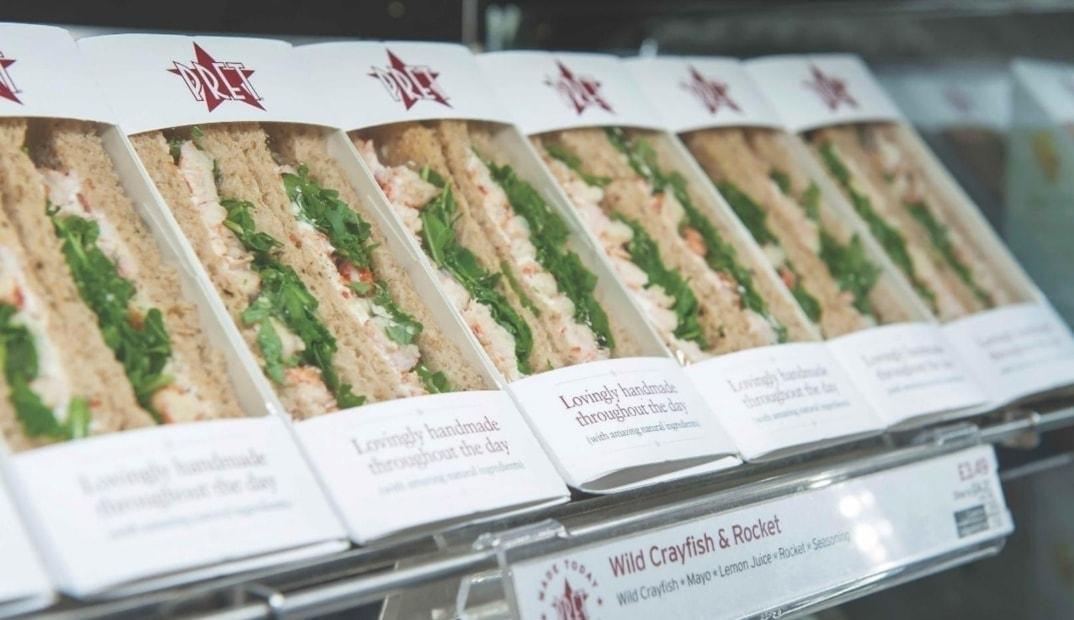 Pret salmon Sandwiches x 2