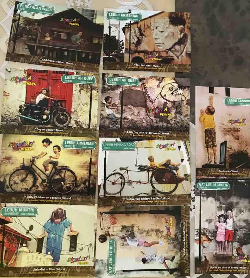 Postcard Photo of Penang street art