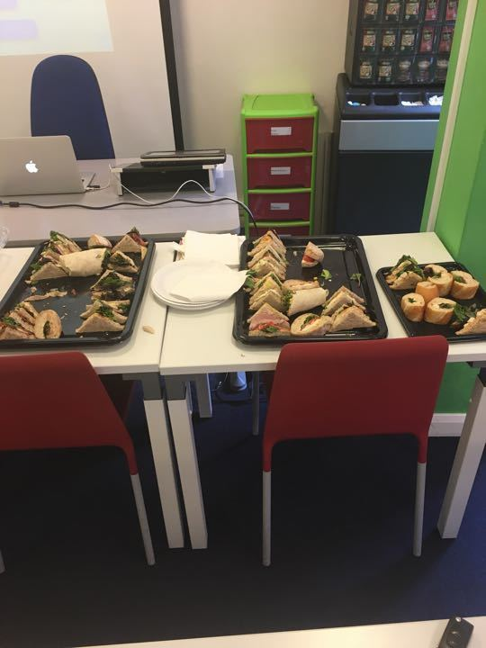 Sandwiches & Wraps left over corporate lunch