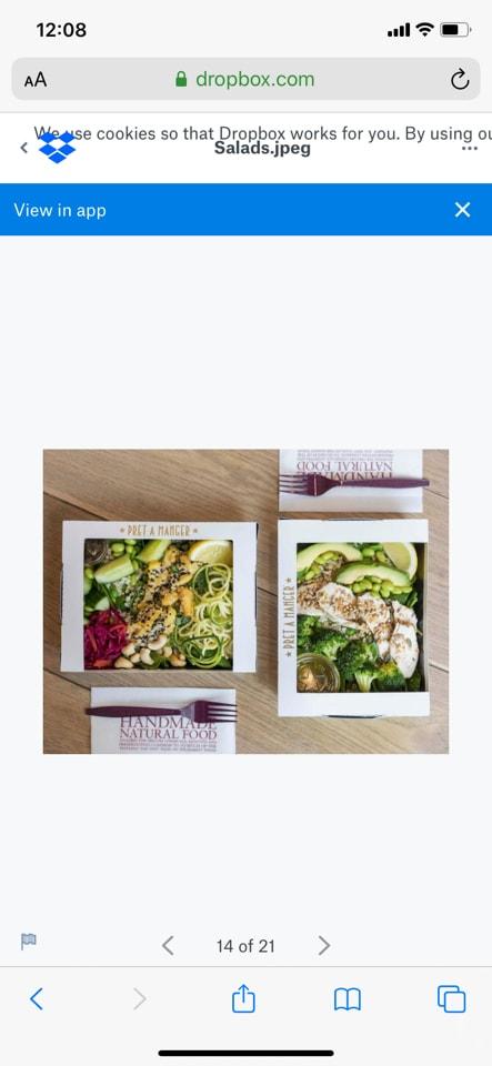 Bang Bang Chicken Salad Box (Pret)