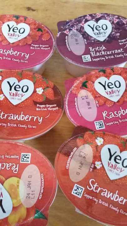Yeo valley organic yogurts