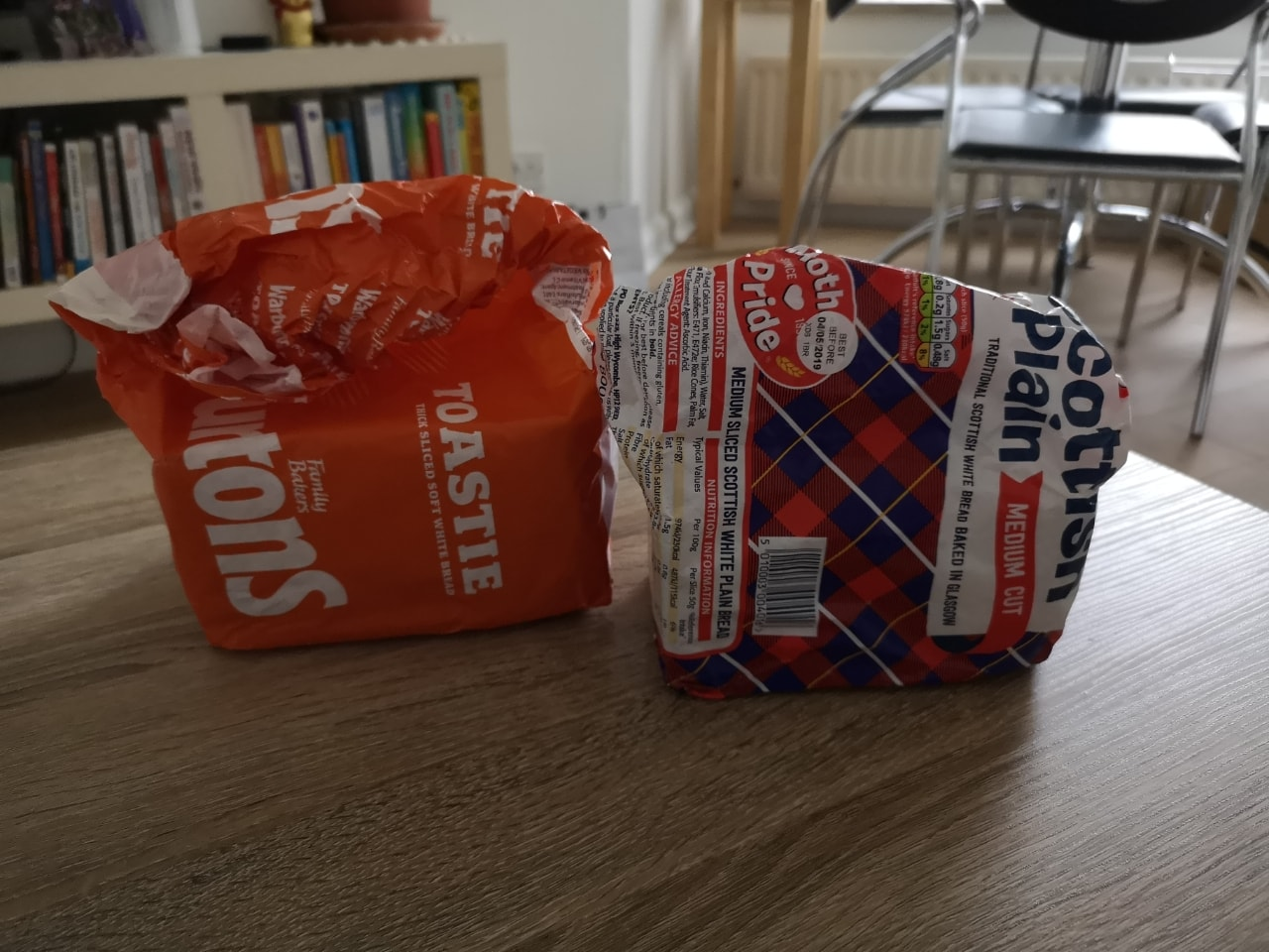 2 bags of 1/2 opened white bread