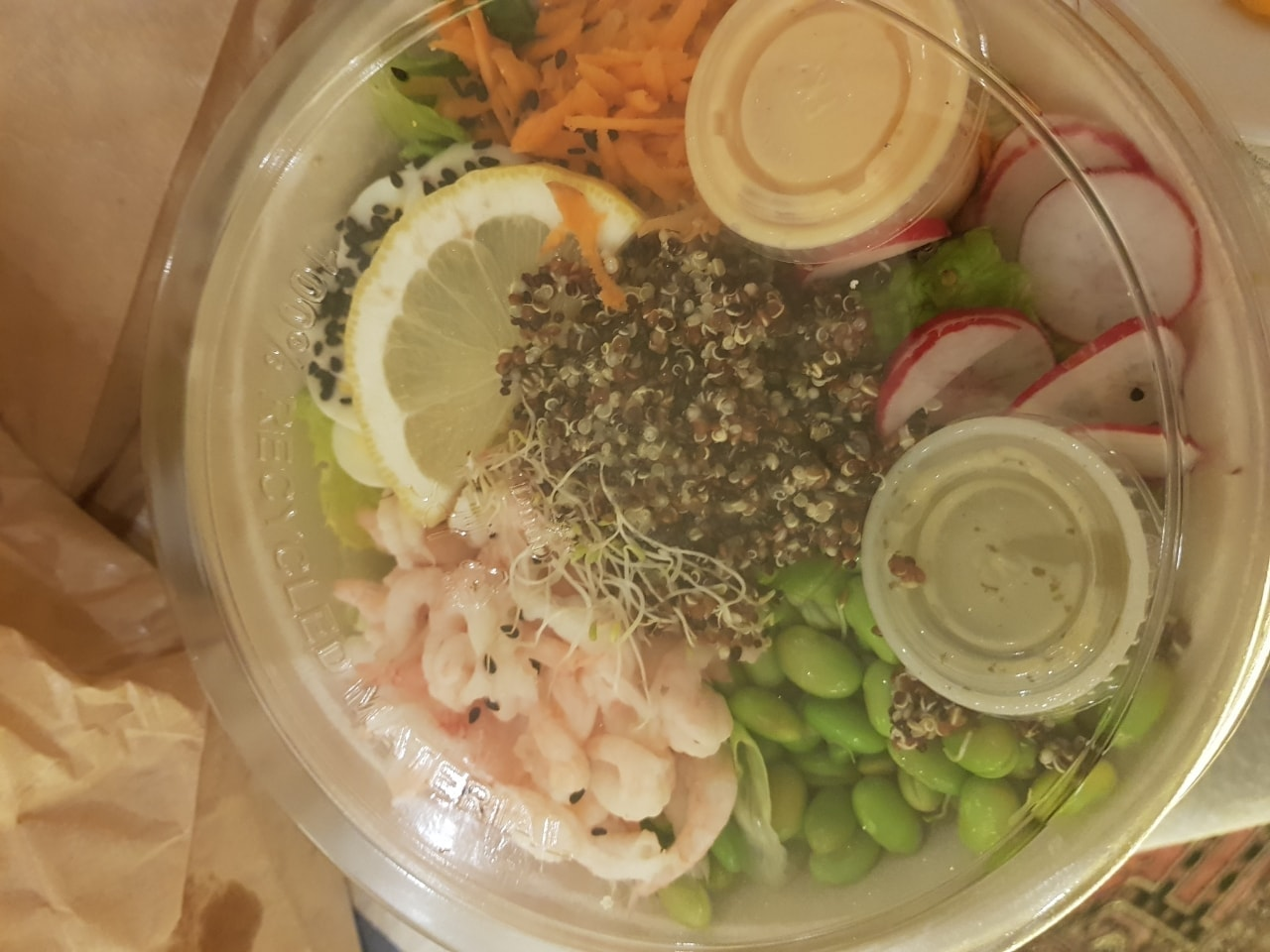 Fresh shrimp sallad from caffe nero!!