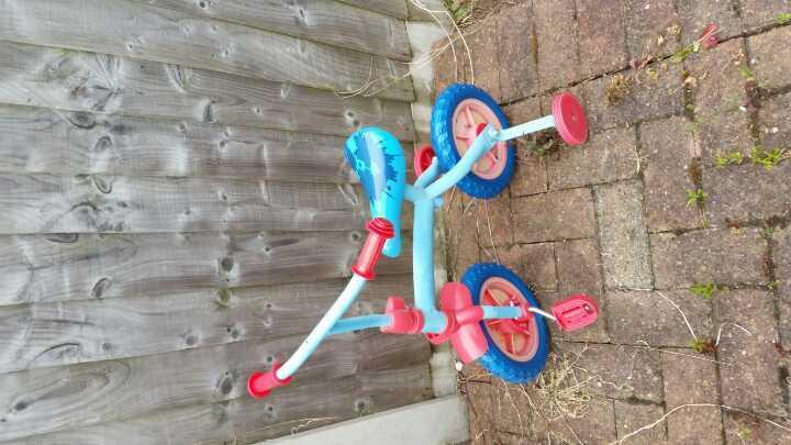 Blue first bike.