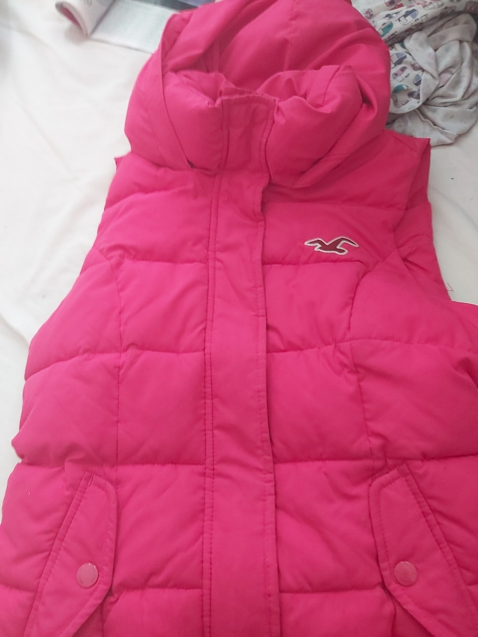 Small pink Holister Gilet size 8 to 10